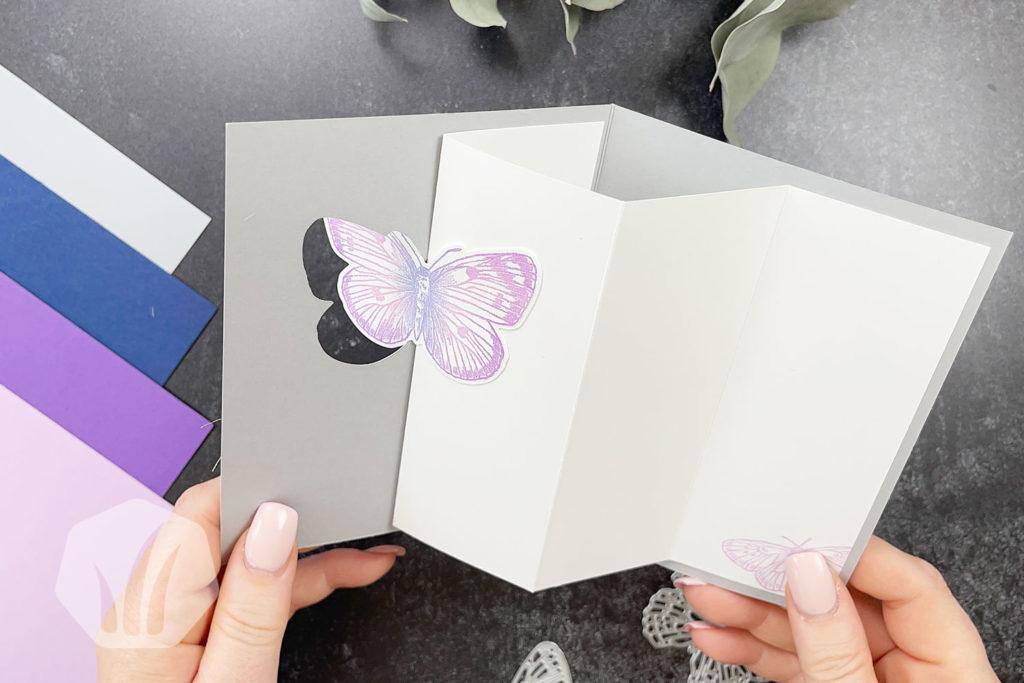 Swing Fold Geburtstagskarte Innenansicht
