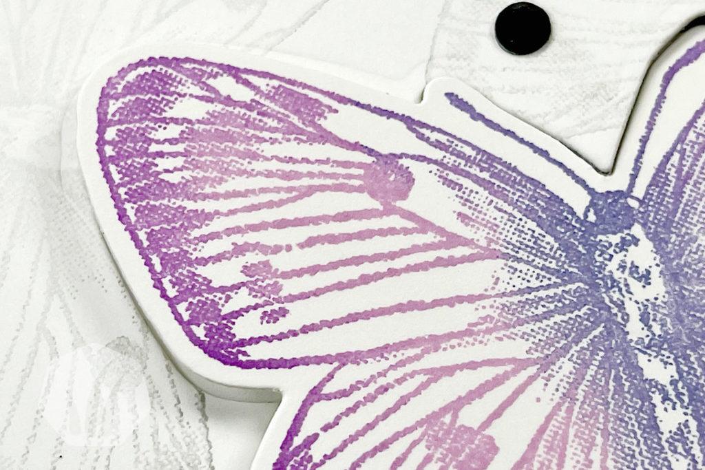 Swing Fold Geburtstagskarte mit Schmetterlingsmotiv Detail