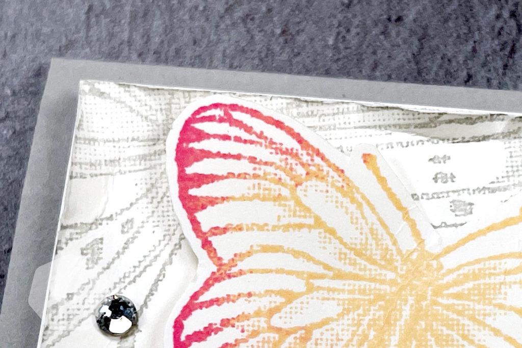 Geburtstagskarte: Fabelhafte Falter & Schliess die Augen Detail Schmetterling