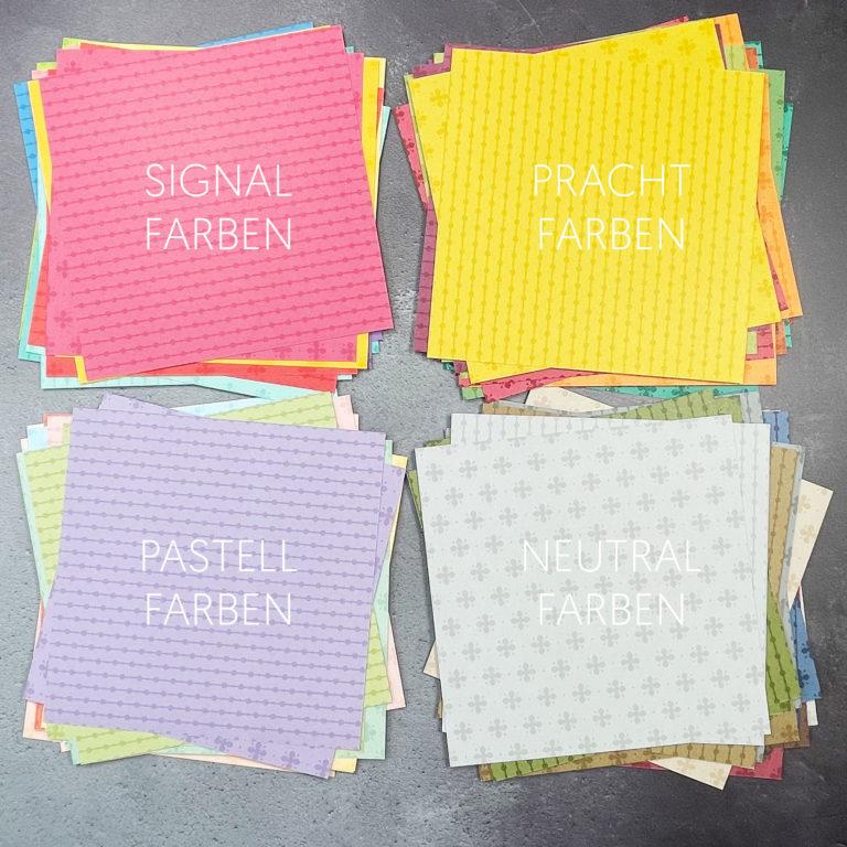 stampin up designpapier musterpakete 2021 farbfamilien