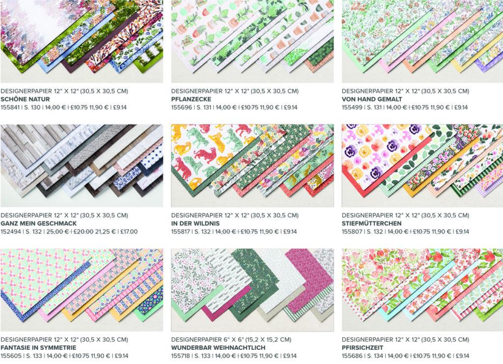 Stampin' Up! Angebot: Designerpapier 2021 Überblick