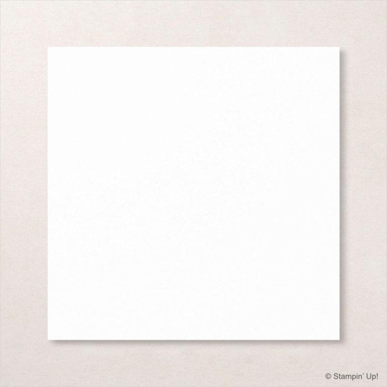 Stampin' Up! Papier: Farbkarton Grundweiß