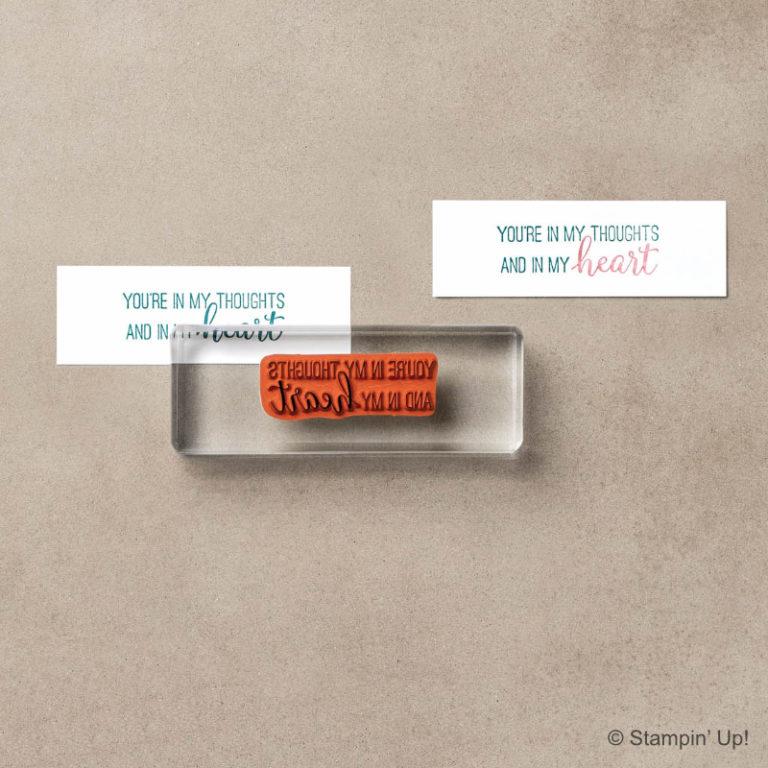 Stampin' Up! Stempel: Ablösbare Stempel oder Gummistempel