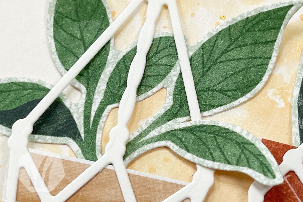 Grußkarte: Hab dich Lieb, Detail Pflanze